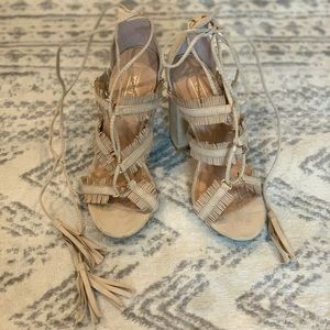 Brand new lace up heeled sandals
